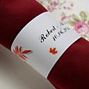 hesapli Fanlar ve Plaj Şemsiyeleri-Düğün Peçeteler - 50pcs Peçete Yüzükleri Düğün Yıldönümü Doğumgünü Nişan Partisi Çeyiz Görme Gençlik Partisi Bahçe Teması
