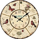 hesapli Yastık Kılıfları-Ülkenin çiçek ve hayvan duvar saati