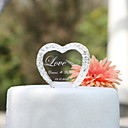cheap Cake Toppers-Cake Topper Garden Theme Hearts Classic Couple Crystal Wedding Anniversary Bridal Shower With Gift Box