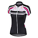 cheap Men's Necklaces-SANTIC Women's Short Sleeve Cycling Jersey - Black Floral / Botanical Bike Jersey, Quick Dry, Spring, 100% Polyester / Anatomic Design / Breathable / High Elasticity / Anatomic Design