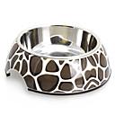 ieftine Câini Castroane si Boluri-Macadam model Melamina Shell Pet oțel inoxidabil Bowl alimentare pentru câini Pisici (S-XL)