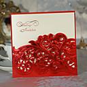 """povoljno Svadbeni privjesci za ključeve-Zamotajte & Pocket Vjenčanje Pozivnice Pozivnice Classic Style Cvjetni Style Kartica papira 6 """"x 6"""" (15 * 15cm)"""