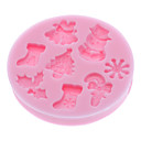 cheap Holiday Deals-Bakeware tools Silicone Eco-friendly / 3D / Christmas For Cake / For Cookie / For Pie 3D Cartoon Mold 1pc