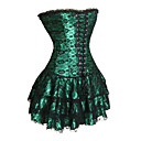 cheap Sexy Uniforms-Corset Gothic Lolita Dress Black Red Green Lolita Accessories Print Polyester