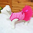 tanie Kozaki damskie-Kot Pies Suknie Ubrania dla psów Kwiatowy/roślinny Różowy Terylene Kostium Dla zwierząt domowych