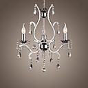 preiswerte Parykopfbedeckungen-4-Licht Kerzen-Stil Kronleuchter Deckenfluter - Candle-Art, 110-120V / 220-240V Glühbirne nicht inklusive / 20-30㎡ / E12 / E14