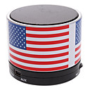 tanie Głośniki-S10 USA Flag Mini głośnik Bluetooth z TF Port dla telefonu / Laptop / Tablet PC