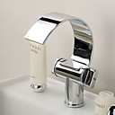 povoljno Pribor za pečenje-Kupaonica Sudoper pipa - Waterfall Chrome Središnje pozicionirane One Hole / Dvije ručke jedna rupaBath Taps