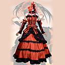 povoljno Anime kostimi-Inspirirana Datum uživo Kurumi Tokisaki Anime Cosplay nošnje Japanski Cosplay Suits Vintage Haljina / More Accessories / Traka za kosu Za Žene / Saten