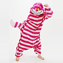 cheap Kigurumi Pajamas-Adults' Kigurumi Pajamas Chesire Cat Onesie Pajamas Coral fleece Red Cosplay For Men and Women Animal Sleepwear Cartoon Halloween Festival / Holiday