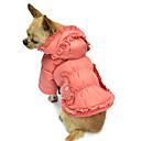 hesapli Köpek Kaseler ve Yemlikler-Köpek Paltolar Kapüşonlu Giyecekler Köpek Giyimi Solid Pembe Pamuk Kostüm Evcil hayvanlar için
