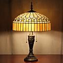 billige Bordlamper-Ger Design Bordlampe, 2 Light, Tiffany Resin Glass Painting