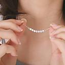 billige Mote Halskjede-Dame Krystall Anheng Halskjede Flytende Billig damer Mote Dubai Small Krystall Legering Sølv Halskjeder Smykker Til Fest Daglig Avslappet