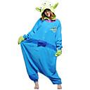 hesapli Düğün Dekorasyonları-Yetişkin Kigurumi Pijama Monster Mavi canavar Onesie Pijama Polar Kumaş Cosplay İçin Erkek ve Kadın Hayvan Sleepwear Karikatür Festival / Tatil Kostümler