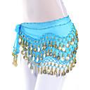 baratos Acessórios de Dança-Dança do Ventre Cinto Mulheres Treino Chiffon Moeda / Salão de Baile