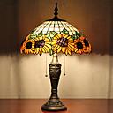 billige Bordlamper-Sunflower Dekor bordlampe, 2 Light, Tiffany Resin Glass Painting