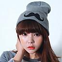 お買い得  3Dプリンターサプライ品-女性用 ストリートファッション ニット,ソリッド ビーニー帽 冬 ブラック グレー / 帽子