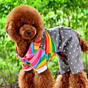 hesapli Köpek Kaseler ve Yemlikler-Köpek Tulumlar Köpek Giyimi Çizgi Turuncu Pamuk Kostüm Evcil hayvanlar için Erkek Kadın's Sevimli Günlük/Sade