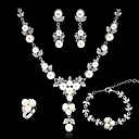 cheap Cake Toppers-Women's As the Picture Jewelry Set - Include Silver For Wedding Party Special Occasion / Anniversary / Engagement / Gift / Daily / Earrings