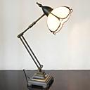 billige Bordlamper-Swing Arm bordlampe, en lys, Tiffany Iron Glass Painting