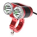 رخيصةأون أضواء شريط LED-اضواء الدراجة / ضوء الدراجة الأمامي LED اضواء الدراجة Cree XM-L T6 ركوب الدراجة قابلة لإعادة الشحن 18650 2400 lm البطارية أخضر / IPX-4