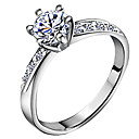 cheap Rings-Women's Band Ring - Zircon, Silver Plated Love Ladies, Classic, Bridal Jewelry Silver For Wedding Anniversary Gift Daily Masquerade Engagement Party 5 / 6 / 7 / 8 / 9