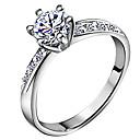 ieftine Inele la Modă-Pentru femei Band Ring - Zirconiu, Argilă Iubire Clasic, de Mireasă 5 / 6 / 7 Argintiu Pentru Nuntă / Aniversare / Cadou