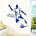 cheap Wall Stickers-Decorative Wall Stickers - People Wall Stickers Leisure / Sports Living Room / Bedroom