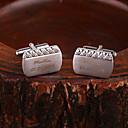 baratos Pulseiras-Liga de Zinco Botões de Punho e Clipes de Gravata Noivo Padrinho do Noivo Casamento Aniversário Parabéns O negócio