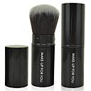 abordables Pinceles para Polvo-1pcs Pinceles de maquillaje Profesional Cepillo para Polvos Pelo Sintético Antibacteriano Pincel Pequeño