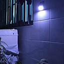 abordables Geniales Gadgets-4-LED accionada solar del sensor de movimiento de PIR Luz al aire libre