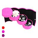 preiswerte Schmuckkästchen-Textil Kunststoff Oval Multi-Funktions- Zuhause Organisation, 1pc Schmuckbehälter