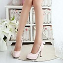 halpa Naisten korkokengät-Naisten Kengät Kiiltonahka Kevät Kesä Stilettikorko Ruseteilla varten Puku Musta Valkoinen Pinkki