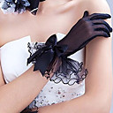 cheap Party Headpieces-Polyester / Tulle Wrist Length Glove Classical / Bridal Gloves / Party / Evening Gloves With Solid