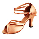 preiswerte Latein Schuhe-Damen Schuhe für den lateinamerikanischen Tanz Satin Absätze Keilabsatz Keine Maßfertigung möglich Tanzschuhe Bronze / Leder
