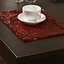 hesapli Servis Altlığı-Çağdaş Polyester Dikdörtgen Servis Altlığı Nakışlı Masa Süslemeleri