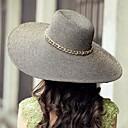 זול אספקה למסיבות-חיצוני / חוף כובעים מיוצאים רפיה קש גבירותיי מקרית / עם שרשרת זהב
