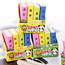 baratos Cases e Bolsas-borracha em forma de livro de design especial (4 pcs) para escola / escritório