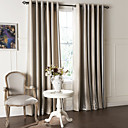 cheap Curtains Drapes-Curtains Drapes Living Room Contemporary Polyester Embossed