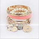 preiswerte Armband-Damen Perlen Mehrlagig Stapelbar Ketten- & Glieder-Armbänder Perlenarmband Perlen Künstliche Perle damas Mehrlagig Mehrfarbig Armbänder Schmuck Golden Für Weihnachts Geschenke Alltag