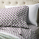cheap Sheet Sets & Pillowcases-Sheet Set - Microfibre Pigment Print Floral 1pc Flat Sheet 1pc Fitted Sheet 2pcs Pillowcases (only 1pc pillowcase for Twin or Single)