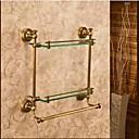 cheap Kitchen Faucets-Bathroom Shelf Best Quality Antique Brass / Glass 1 pc - Hotel bath