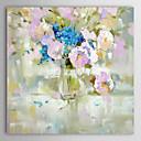 billige Stillebenmalerier-Hang malte oljemaleri Håndmalte - Still Life Moderne Lerret