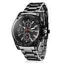 cheap Men's Athletic Shoes-Men's Wrist Watch Quartz Casual Watch Alloy Band Analog Charm Racing Black - Black