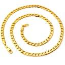 preiswerte Modische Halsketten-Damen Figaro Kette Klobig Ketten - vergoldet Modisch Modische Halsketten Schmuck Für Hochzeit, Party, Alltag