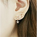 cheap Necklaces-Women's Stud Earrings - Rhinestone, Gold Plated Star Golden For Wedding / Party / Daily
