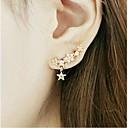 preiswerte Modische Ohrringe-Damen Ohrstecker - Strass, vergoldet Stern Golden Für Hochzeit Party Alltag