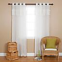 preiswerte Geburtstag Dekoration-Ein Panel Window Treatment Landhaus Stil Solide Wohnzimmer Polyester Stoff Gardinen Shades Haus Dekoration