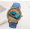 baratos Escrita-Mulheres Relógio de Pulso Chinês Relógio Casual PU Banda Vintage Preta