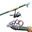 abordables Cannes à pêche-Pêche 2,7 M Carbon Green Sea Fishing Rod Medium Light